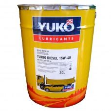 Автомобильное моторное масло YUKO TURBO DIESEL 15W-40 20л