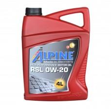 Масло моторное Alpine RSL 0W-20 (4л)