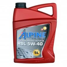 Масло моторное Alpine RSL  5W-40 (5л)
