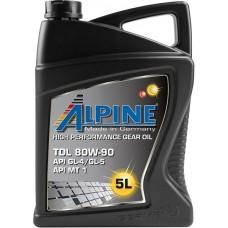 Масло трансмиссионное ALPINE Gear Oil TDL API GL-4/GL-5 80W-90 (5л)