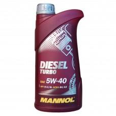 Масло моторное MANNOL Diesel TURBO CG-4/SJ 5W-40 (1л)