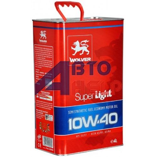 Масло моторное WOLVER Super Light 10W-40 (4л)